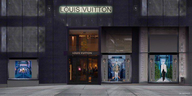 LV邀請英國藝術家暨舞台布景設計師Es Devlin共同創作出,女裝春夏系列櫥窗...