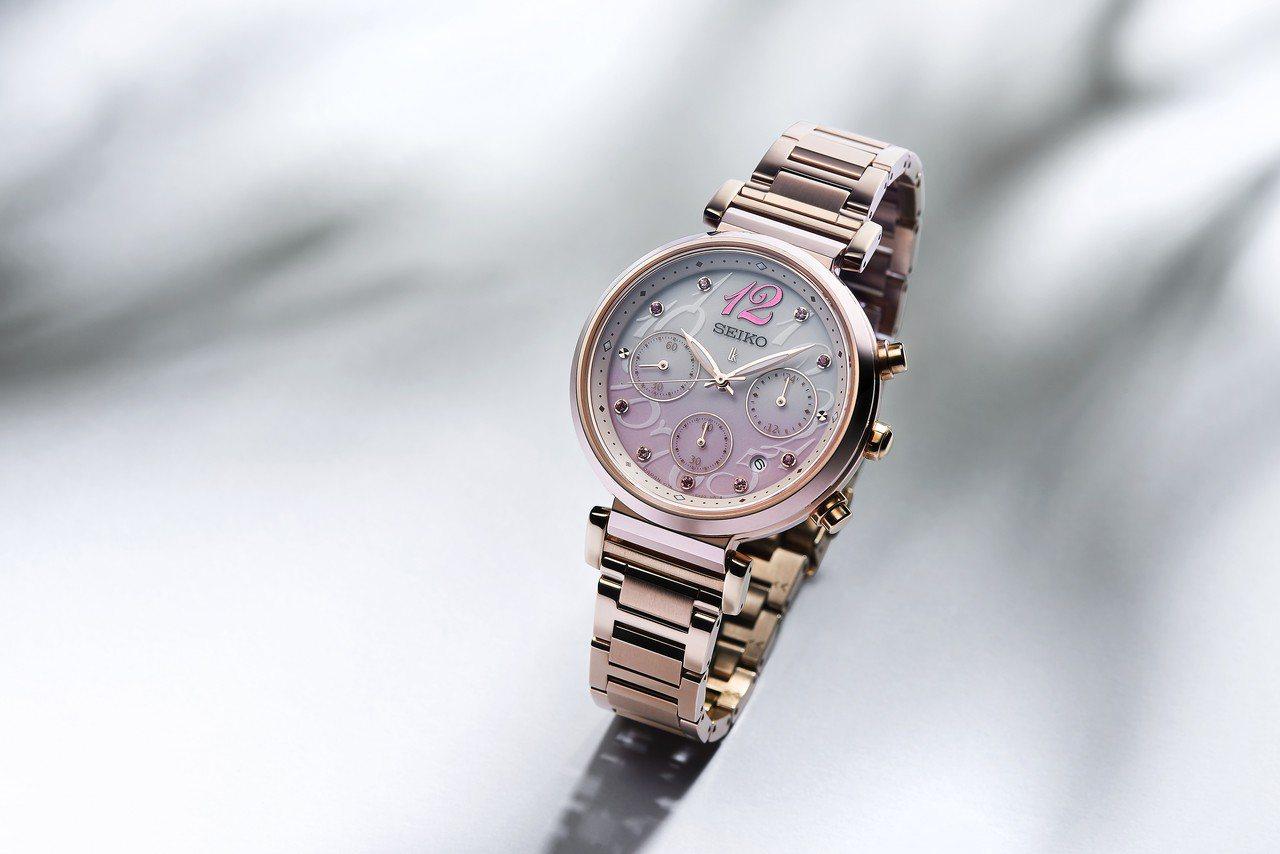 SEIKO來台65周年紀念款Lukia SSC830J1腕表,25,500元。圖...