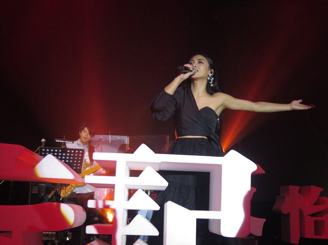 艾怡良首次在高雄舉辦個人演唱會。圖/EMI提供