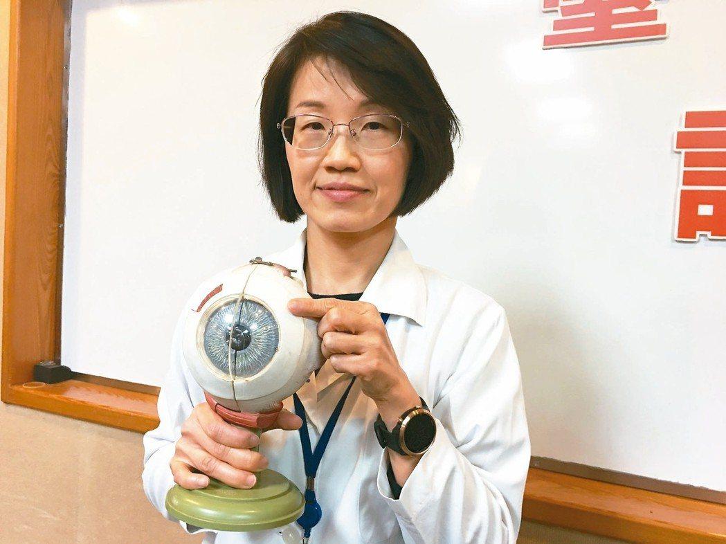 台北榮總青光眼科主治醫師柯玉潔(見圖)表示,青光眼是一種視神經病變,造成原因是原...