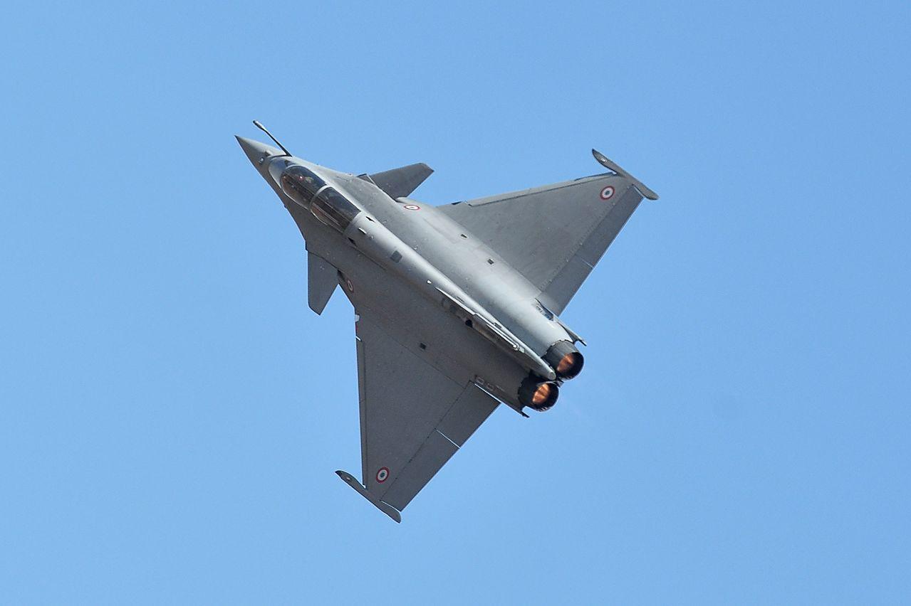 法國達梭公司製造的飆風戰機。(法新社)