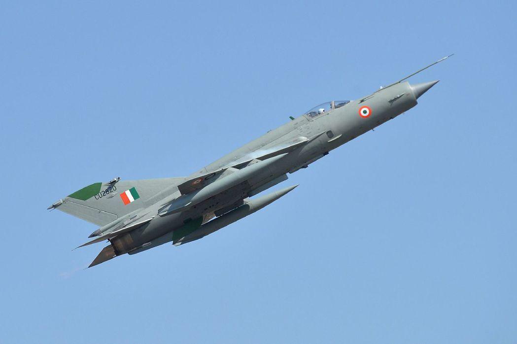 印度的米格21戰機。這種1950年代就開始服役的戰機,仍是印軍主力之一,印度有2...