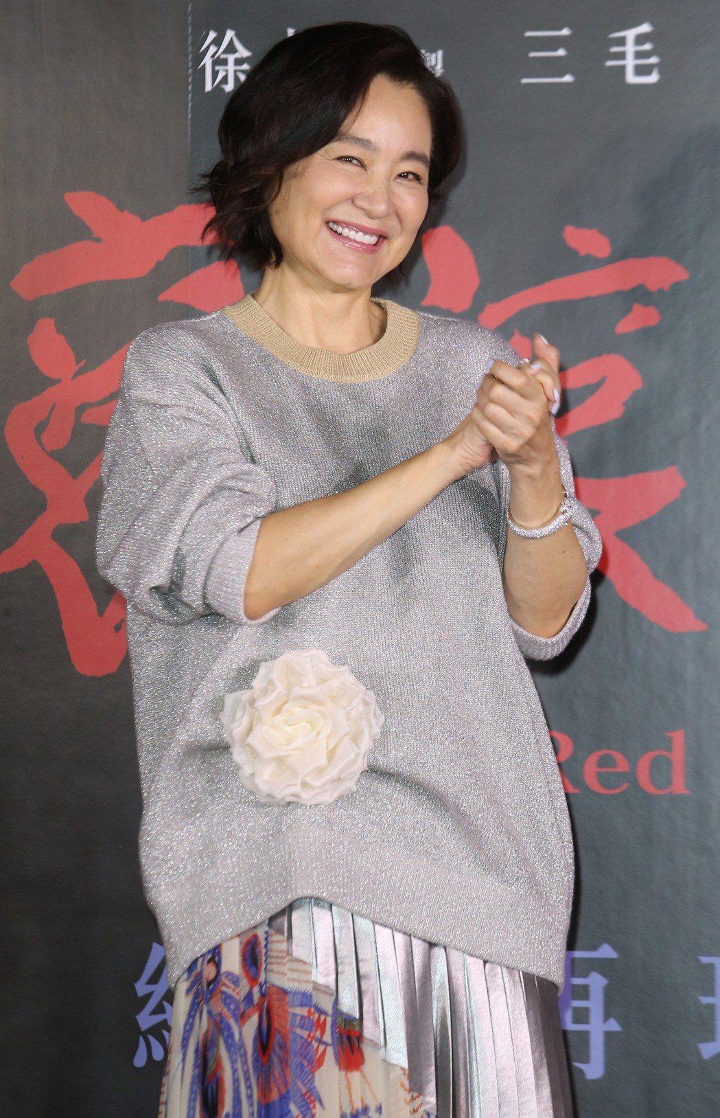 林青霞出席《滾滾紅塵》首映會。記者曾學仁/攝影