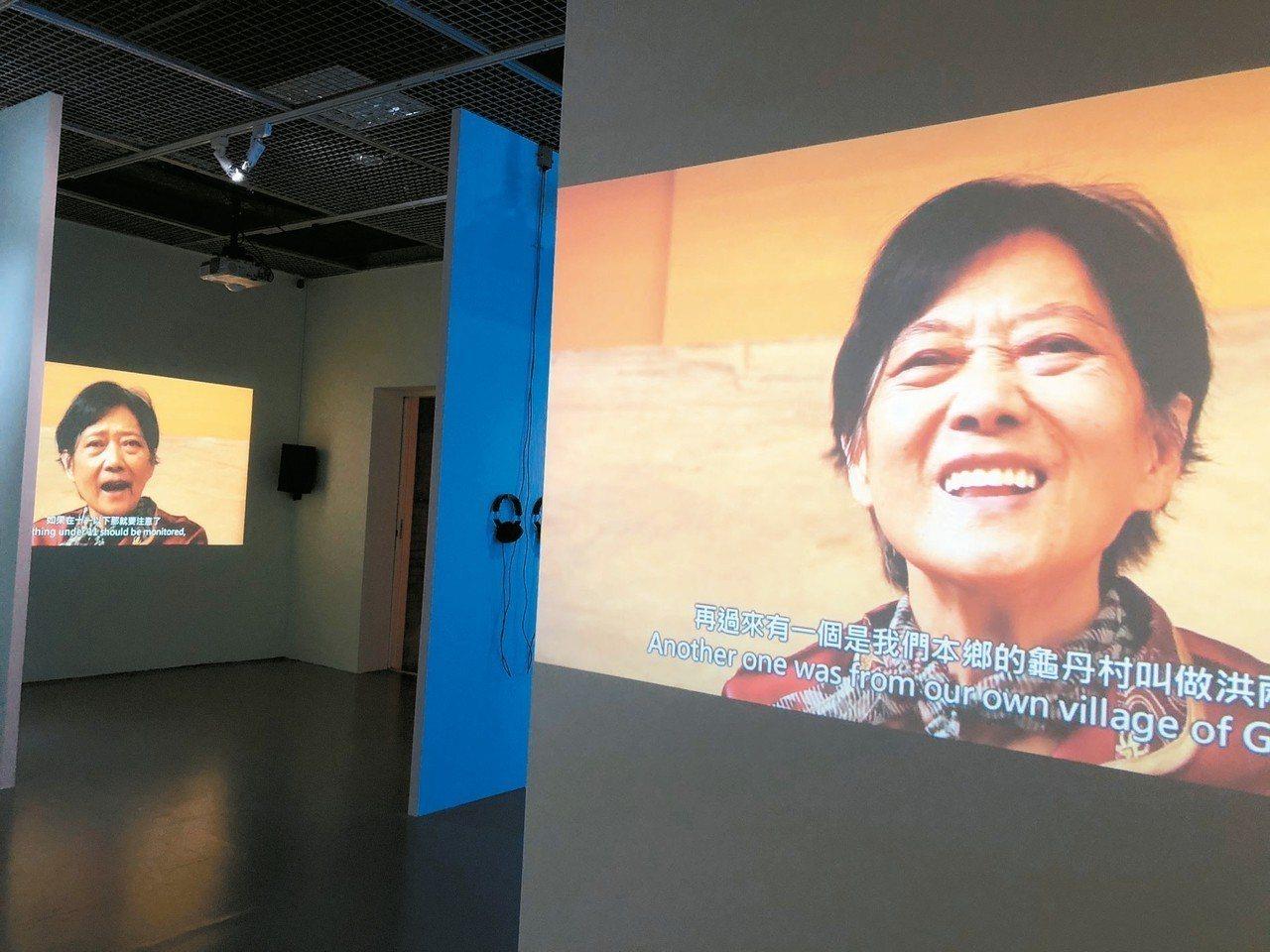 藝術家陳建北舉辦助產序曲個展,展出內容包括8支對助產士顏桂英的訪問。 記者何定照...
