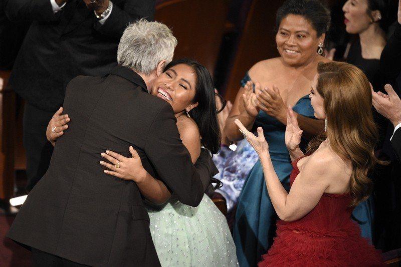《羅馬》導演Alfonso Cuarón奪得最佳導演。 圖/美聯社