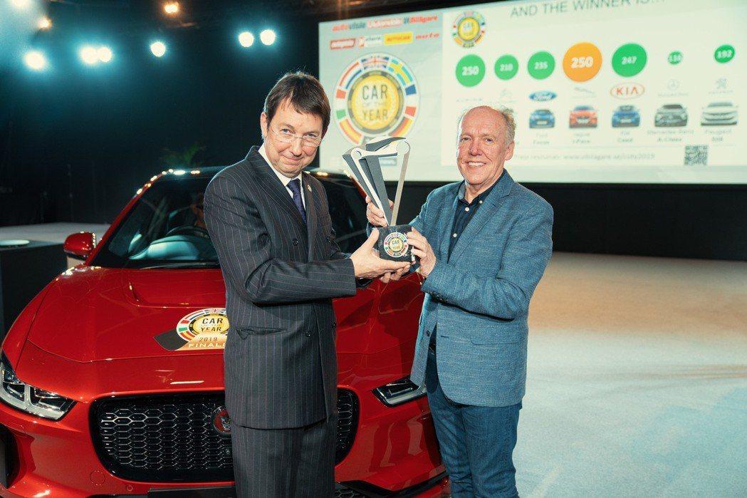 Jaguar I-Pace榮獲2019歐洲年度風雲車大獎。 摘自Jaguar