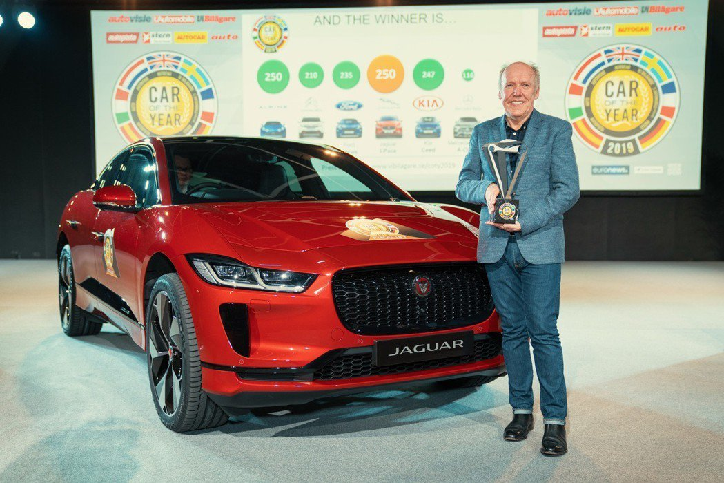 Jaguar I-Pace奪下2019歐洲年度風雲車大獎。 摘自Jaguar