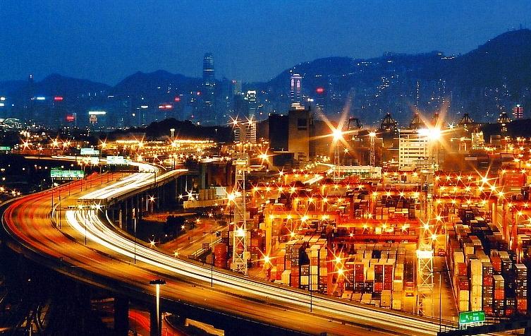 葵青貨櫃碼頭 圖/ 香港交通資訊網