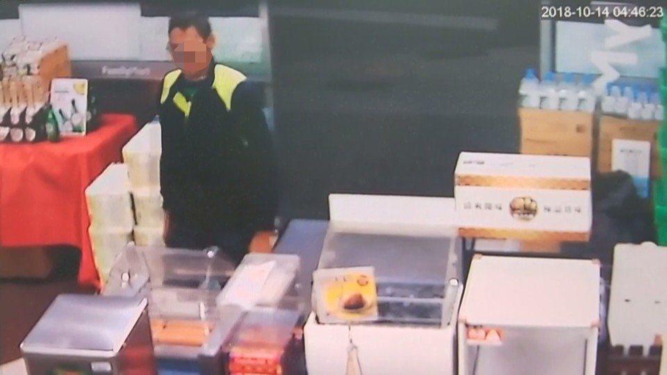 黃姓男子涉嫌搶三家超商被逮。記者林敬家/翻攝