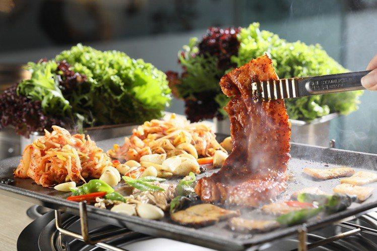 韓國八色烤肉,在3月8日至3月10日推出用餐8折的優惠。圖/八色烤肉提供