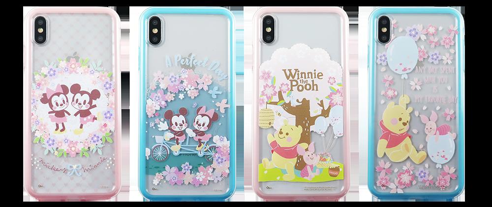 迪士尼櫻花季限定版手機殼,各590元。圖/台灣迪士尼提供