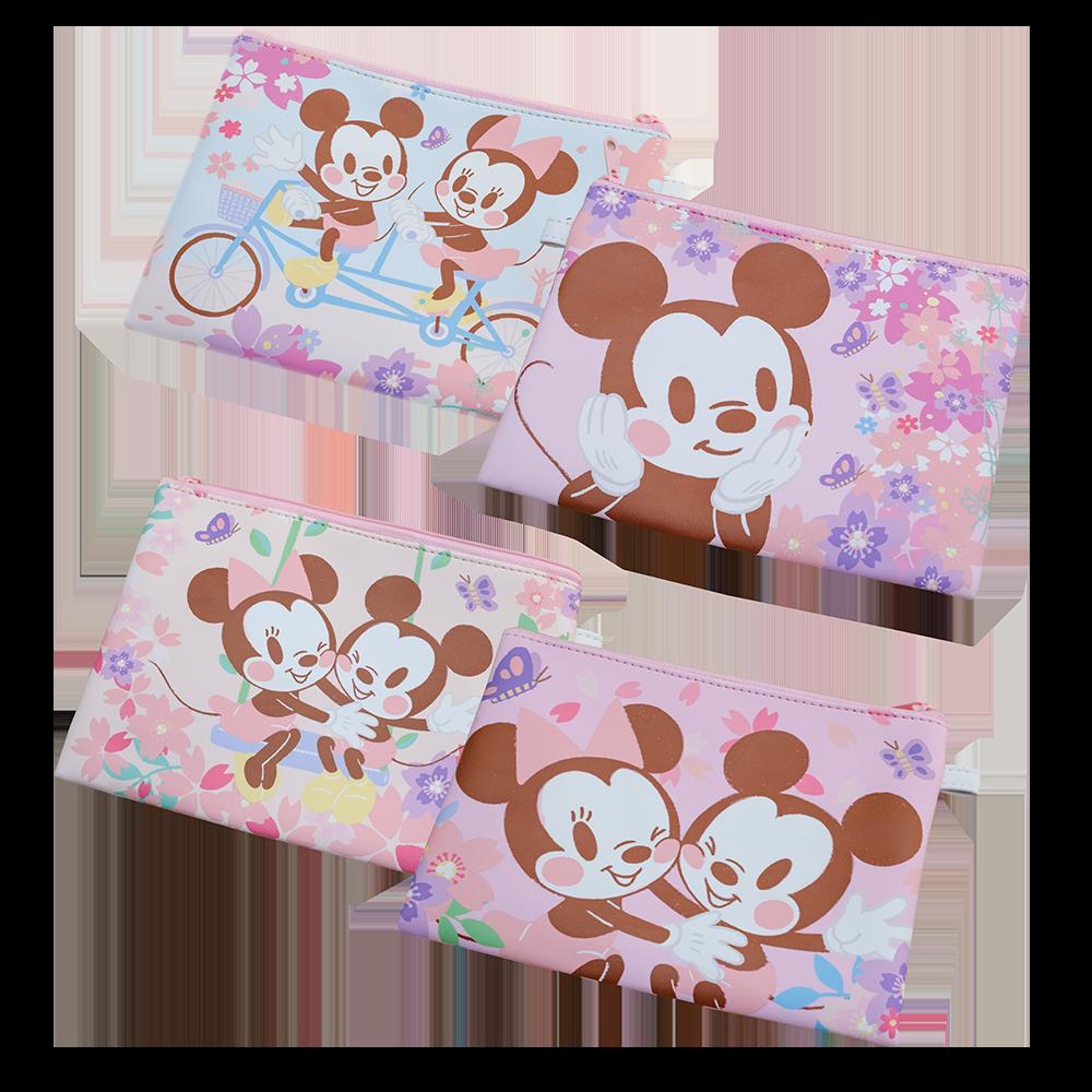 米奇米妮系列收納包,各280元。圖/台灣迪士尼提供