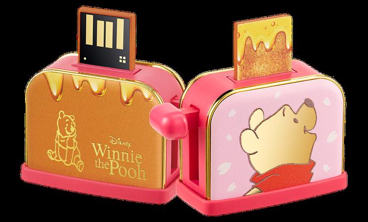 小熊維尼系列蜂蜜吐司隨身碟16GB 690元。圖/台灣迪士尼提供