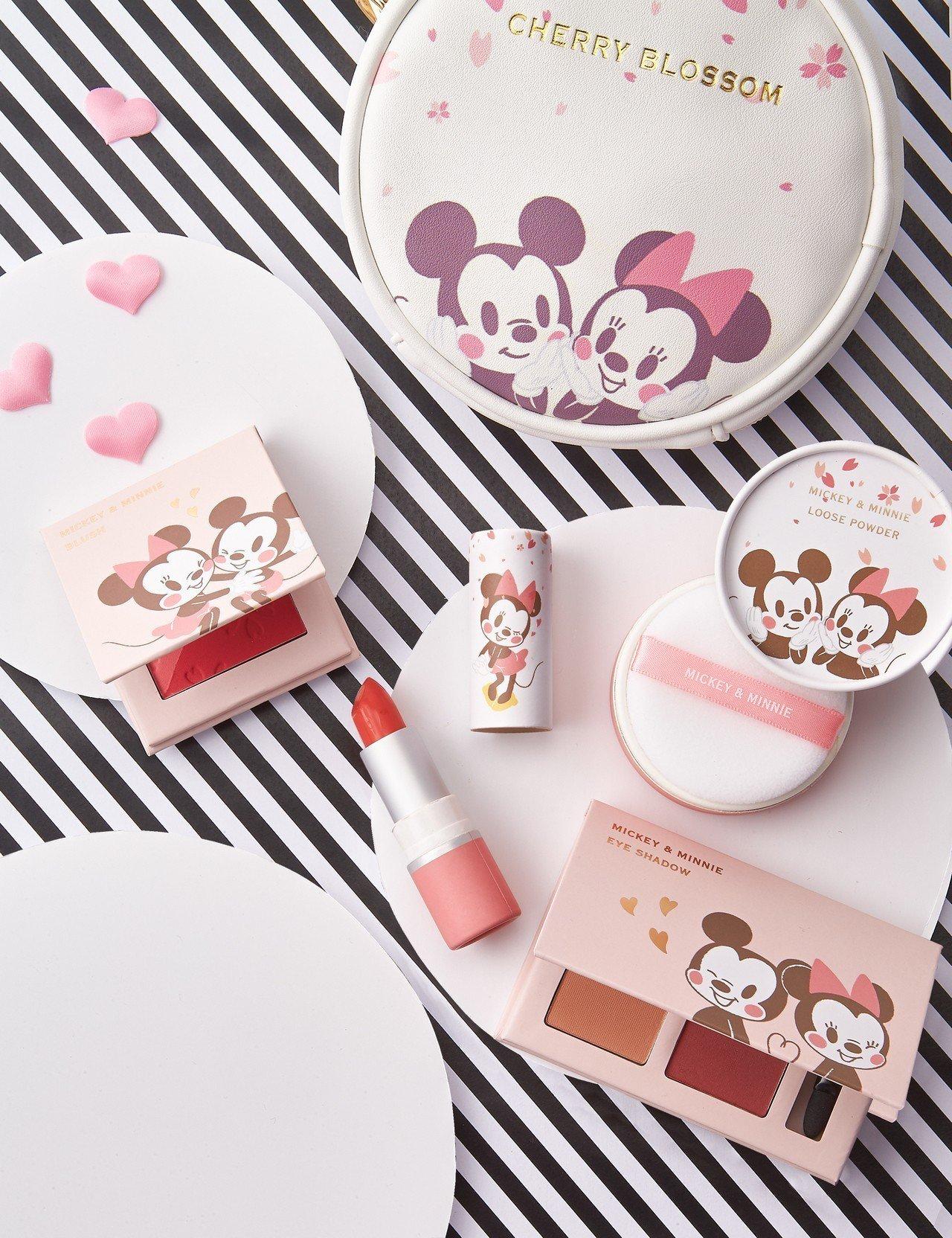 限量超值的迪士尼櫻花系列彩妝5件組,7-ELEVEN全球搶先販售,售價1,388...