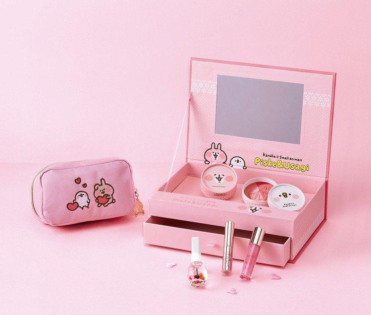 卡娜赫拉的小動物綻色玫瑰限定禮盒6件組,售價1,599元。圖/7-ELEVEN提...