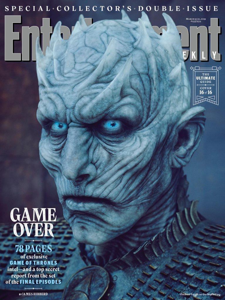 「異鬼」的領袖「夜王」也在最新娛樂周刊的封面之中。圖/摘自EW