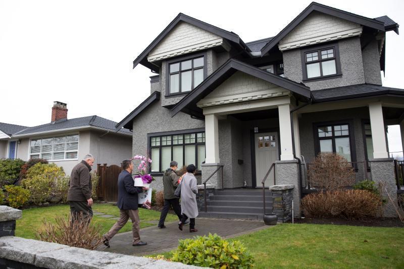 孟晚舟在溫哥華登巴區的豪宅。 (法新社)