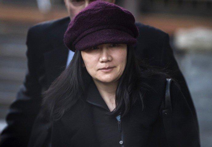 孟晚舟今年1月29日離家前往法院出庭。 (美聯社)