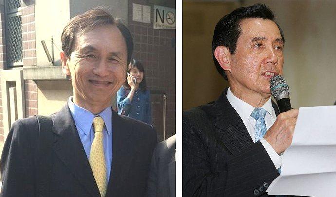 美麗島電子報董事長吳子嘉(左)與前總統馬英九(右)。 圖/聯合報系資料照片