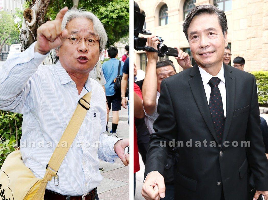 作家馮光遠(左))指國安會前秘書長金溥聰(右)與前總統馬英九有「特殊性關係」。 ...