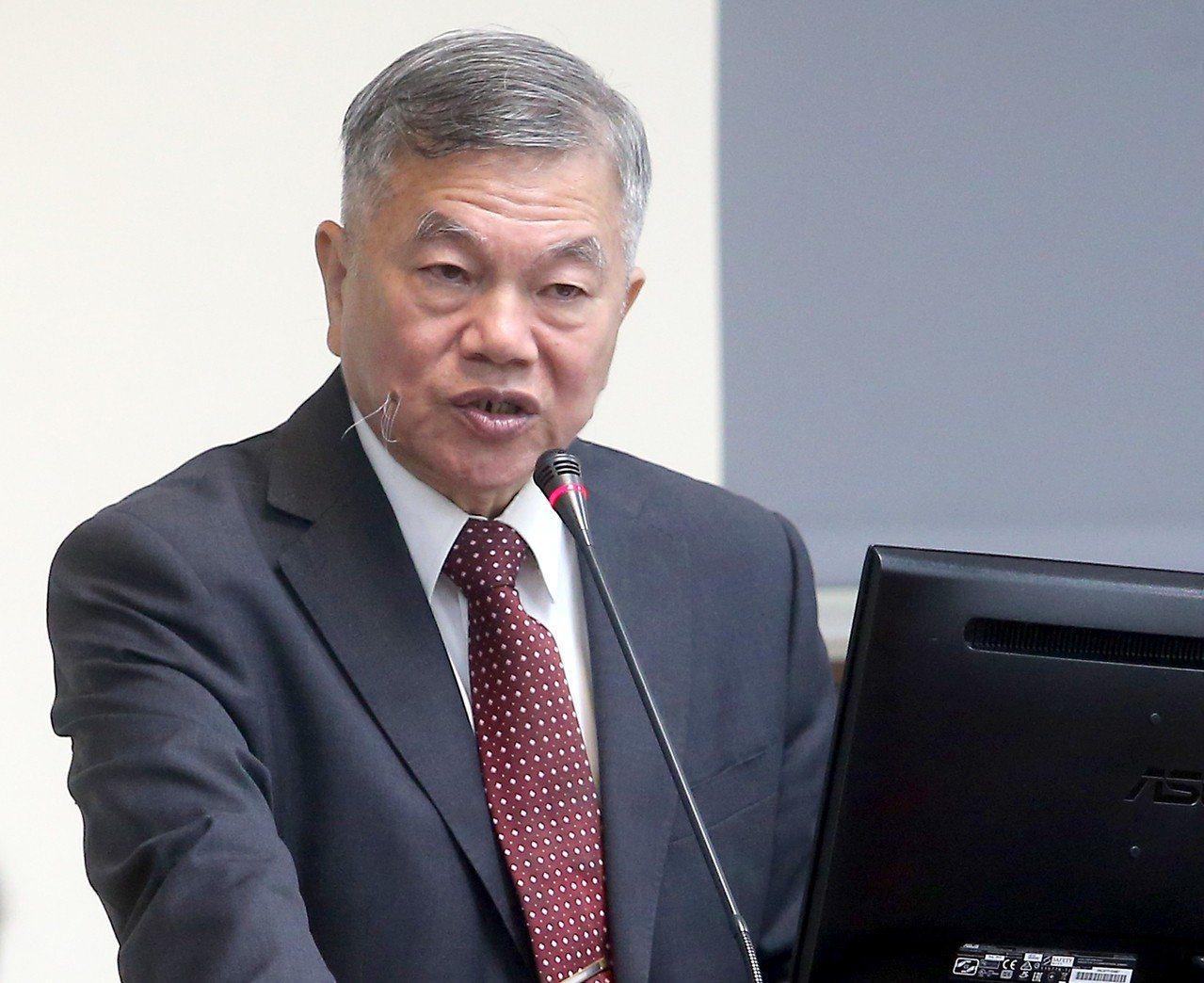 經濟部長沈榮津。聯合報系資料照片