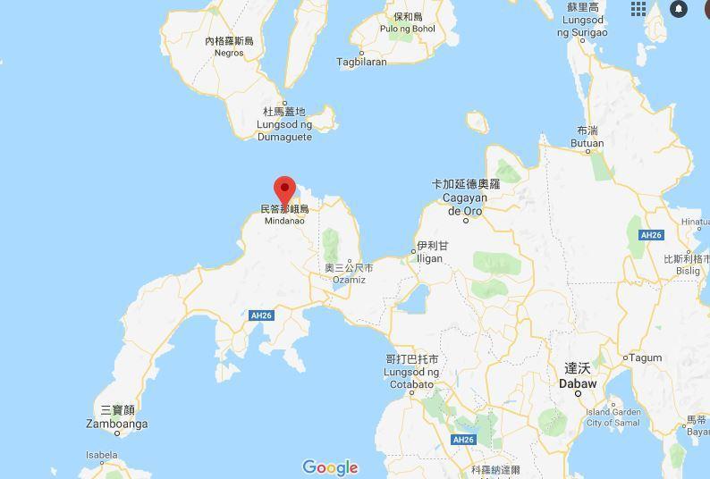 菲律賓的民答那峨(Mindanao)今天遭初步估計規模6.0的地震襲擊。 圖/g...