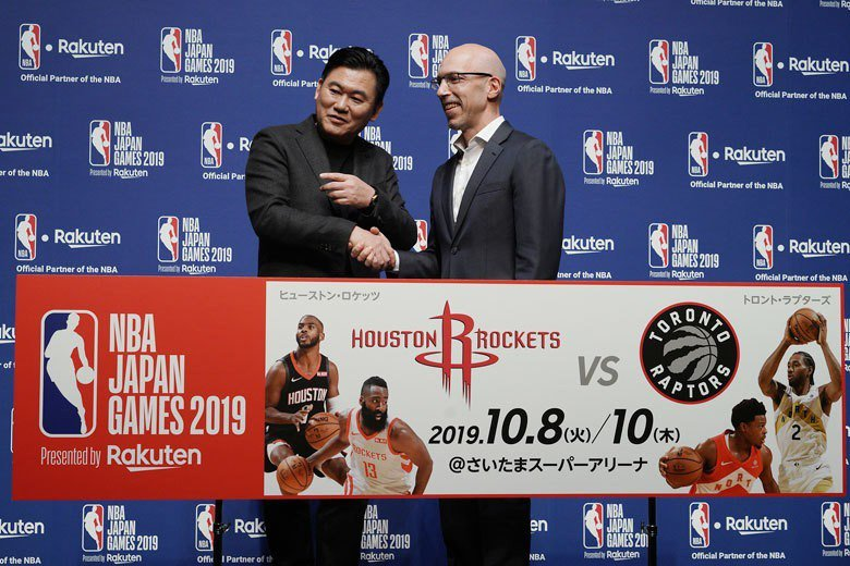 NBA官方宣佈下季海外賽將由暴龍和火箭在日本埼玉超級競技場進行2場比賽,台灣球迷...