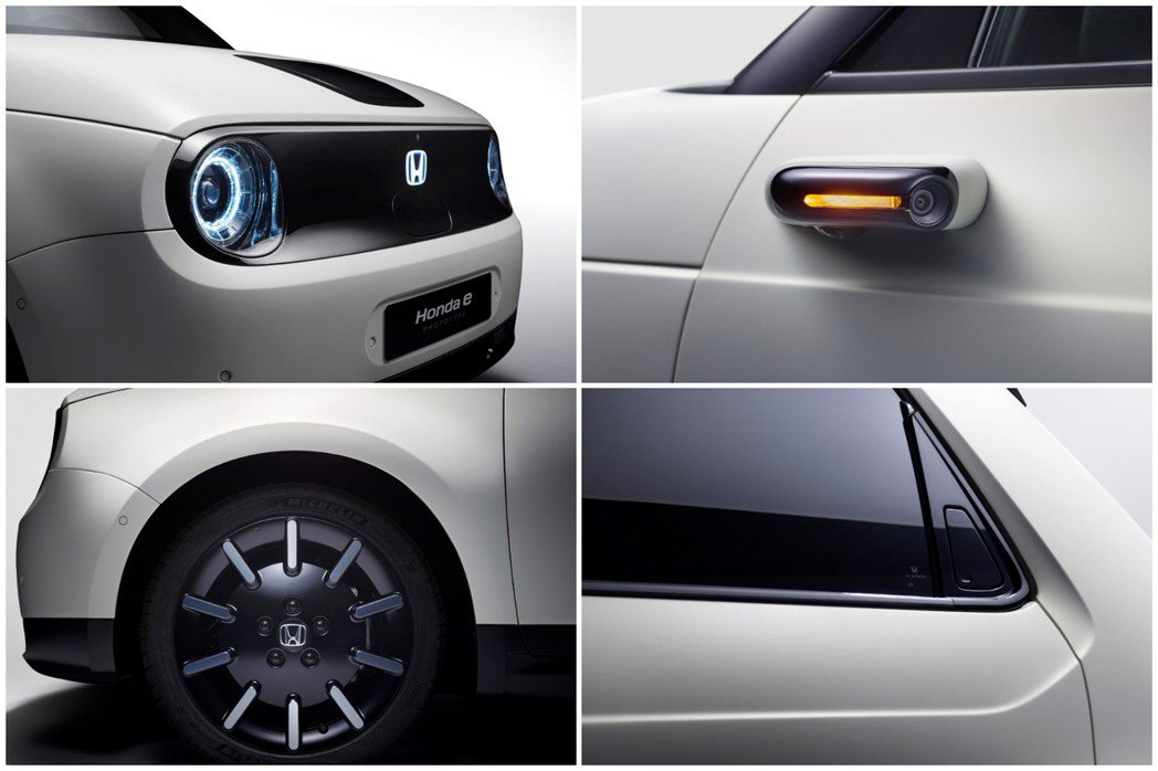 Honda e Prototype使用攝像鏡頭取代傳統的後視鏡配置。 摘自Hon...