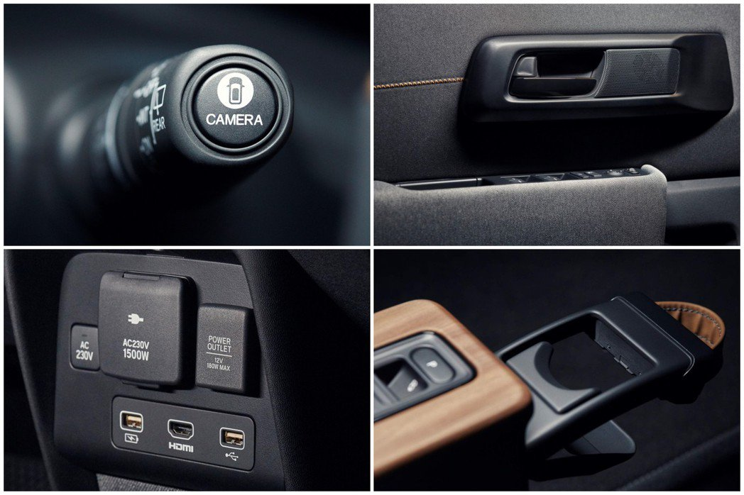Honda e Prototype 內裝。 摘自Honda
