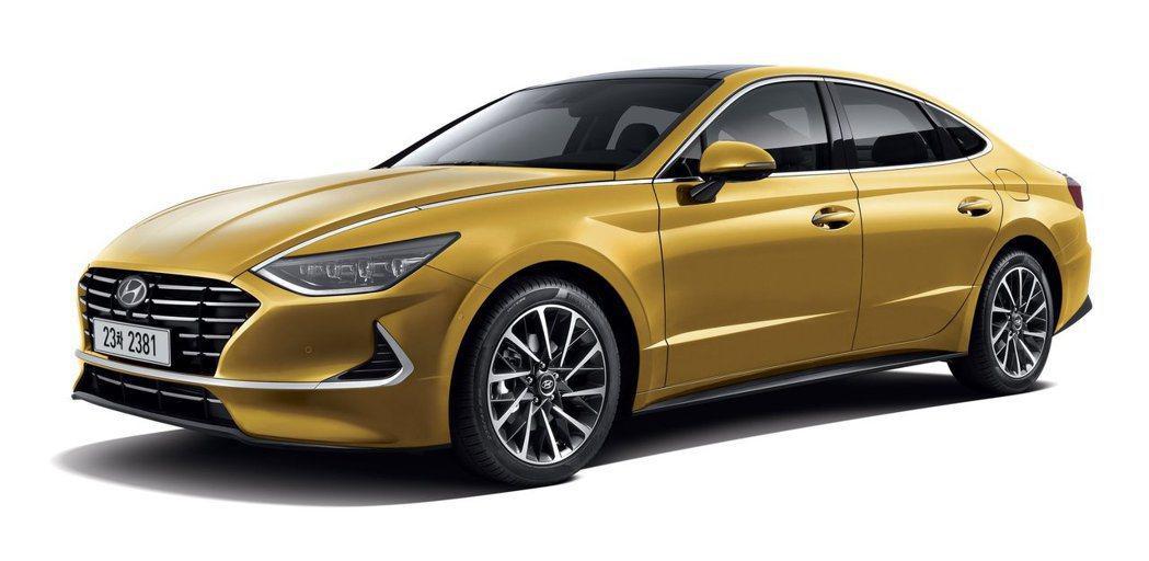 全新第八代Hyundai Sonata在正式發表前搶先曝光。 摘自Hyundai