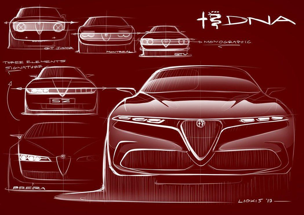 Alfa Romeo Tonale Concept身上融合許多經典車款的DNA。 摘自Alfa Romeo