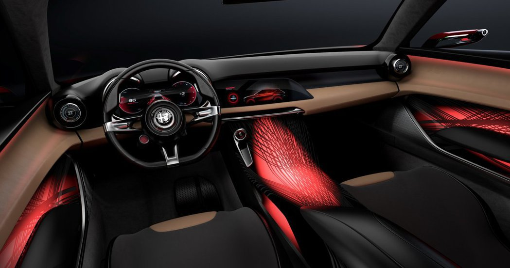 Alfa Romeo Tonale Concept 內裝。 摘自Alfa Rom...