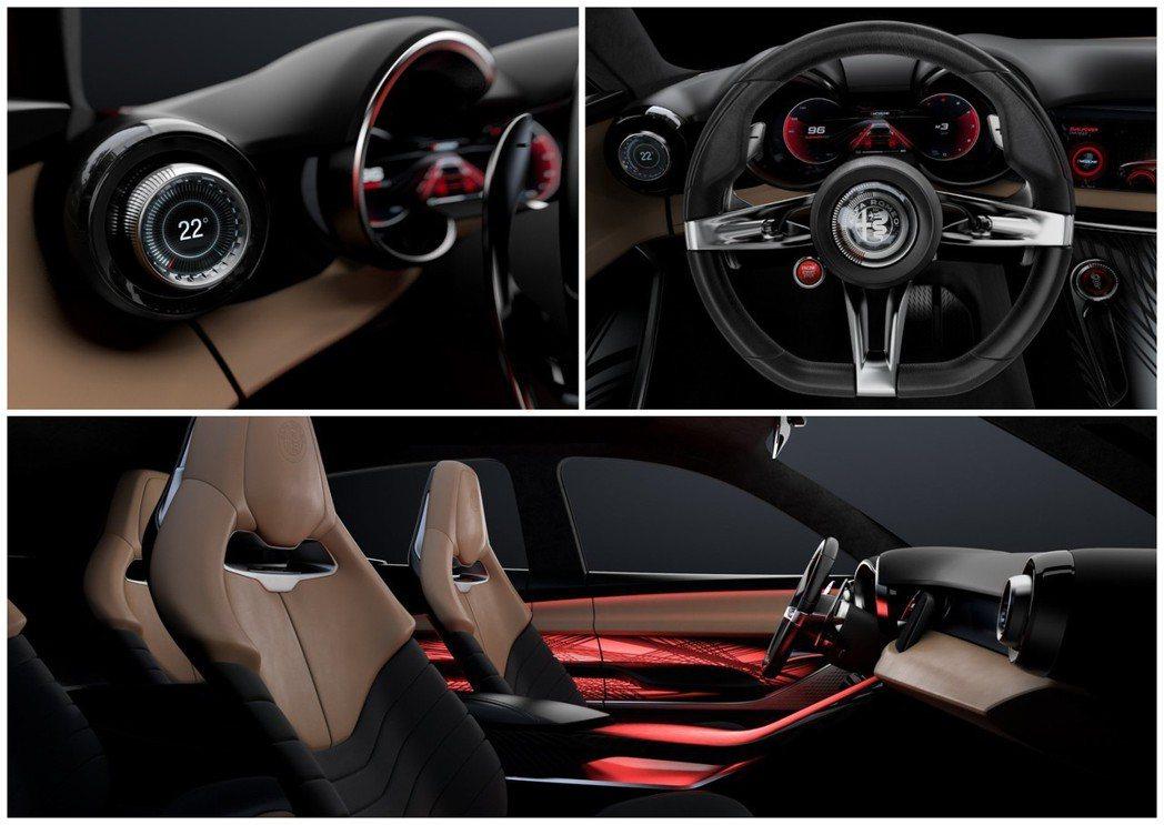 Alfa Romeo Tonale Concept 內裝相當簡潔有力。 摘自Al...