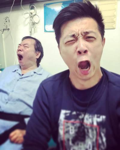 廖峻和兒子廖錦德父子情深。圖/摘自臉書