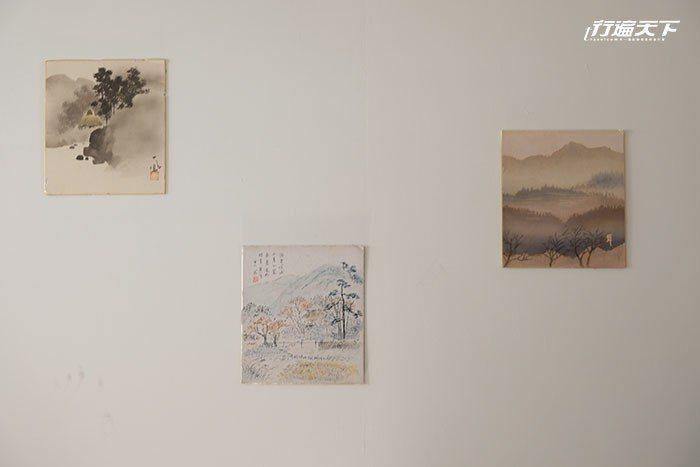 在日本跳蚤市場買到的古畫很有味道。