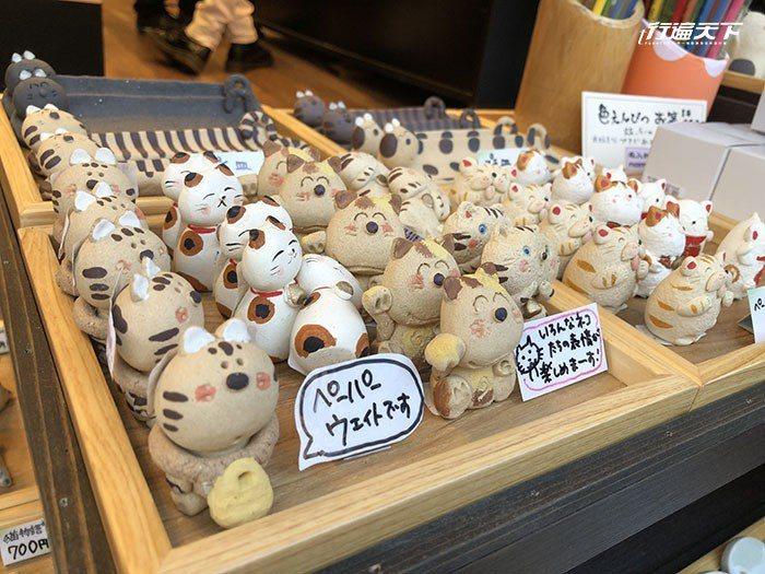 商店街可看到各式各樣貓咪的商品。