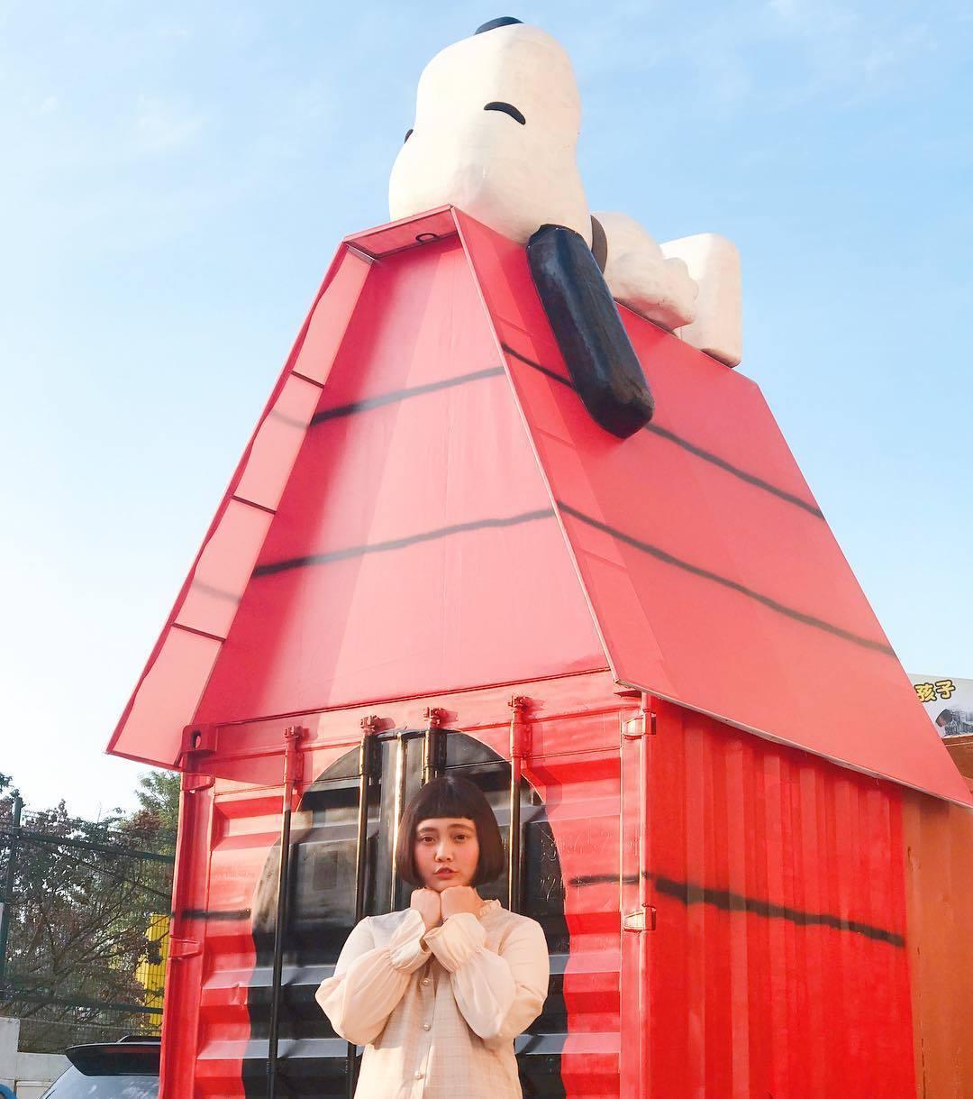 (圖/IG@moon_haha) ▲「史努比鐵皮屋」真的很大!現場看超壯觀,人瞬...