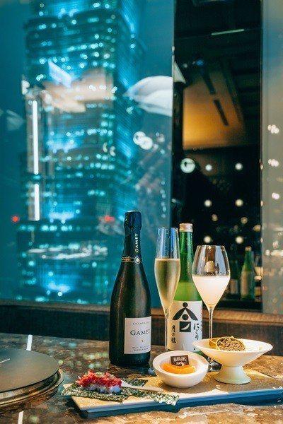 用餐時台北101近在眼前。 ※ 提醒您:禁止酒駕 飲酒過量有礙健康