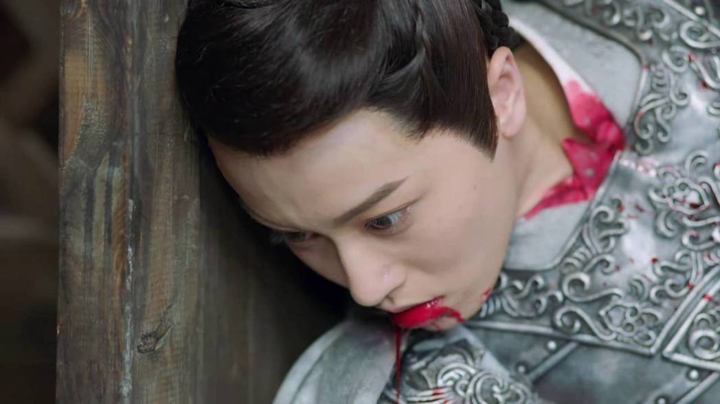 莫若菲(邢恩飾)被東方炻所殺。圖/截圖自愛奇藝台灣站