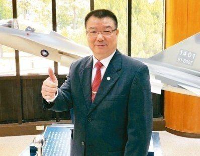 漢翔航空工業公司董事長廖榮鑫。本報系資料照