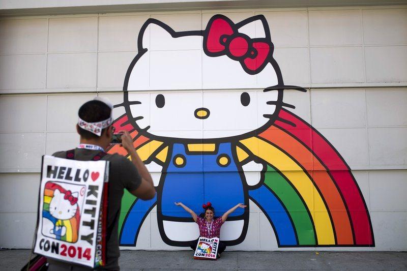 Hello Kitty將進軍好萊塢,45年來首次被拍成電影。美聯社