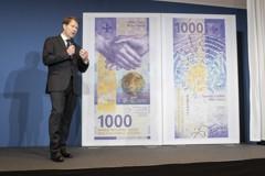 全球最有價值紙鈔 瑞士法朗千元大鈔大改版