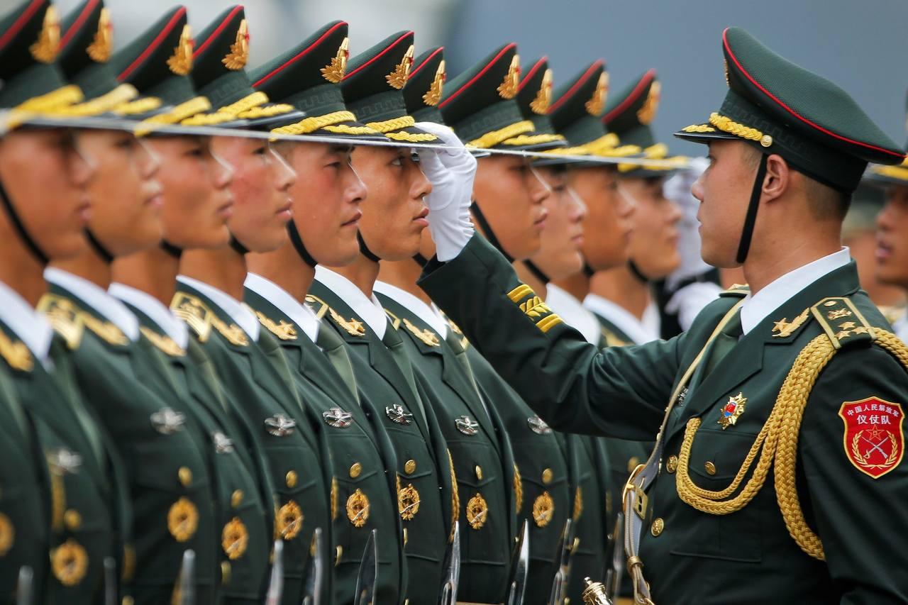 中共解放軍。圖/路透