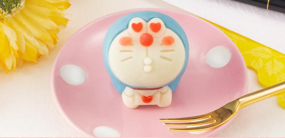 日本LAWSON獨賣哆啦A夢和菓子愛心款。圖/摘自bandai官網