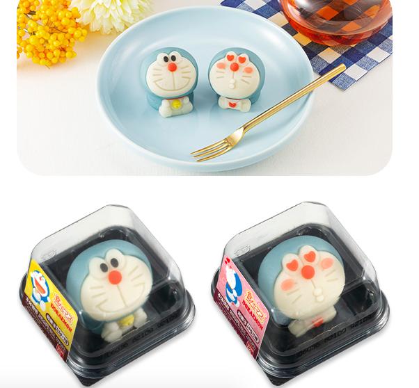 日本LAWSON獨賣哆啦A夢和菓子。圖/摘自bandai官網