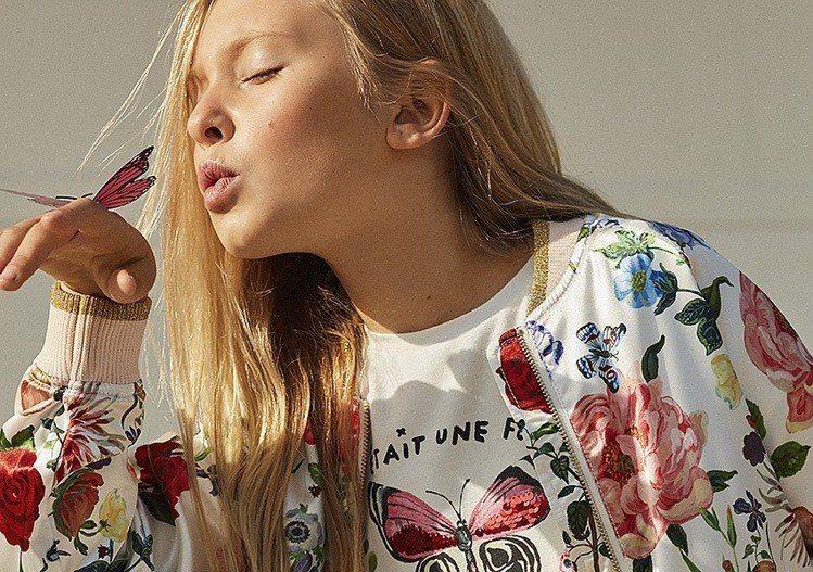 H&M 與巴黎藝術家 Nathalie Lété 攜手推出聯名童裝系列 。圖/H...
