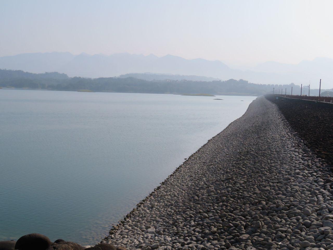 仁義潭蓄水量1180萬噸,蓄水率46.68%。記者魯永明/攝影