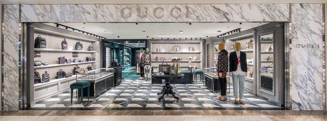 Gucci高雄漢神百貨專門店男裝樓層。圖/Gucci提供