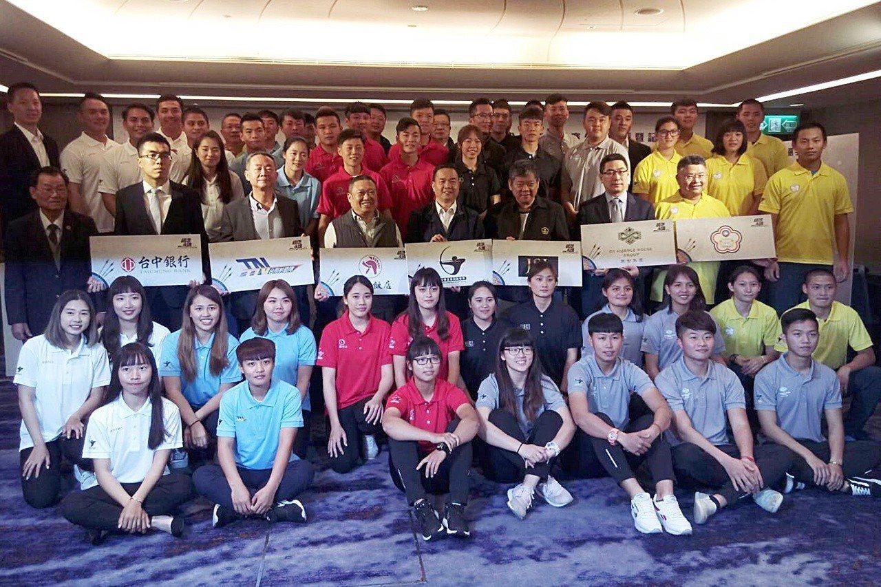 第一屆中華企業射箭聯賽打出「精準永續」口號,6日舉辦公開選秀暨記者會。記者林宋以...