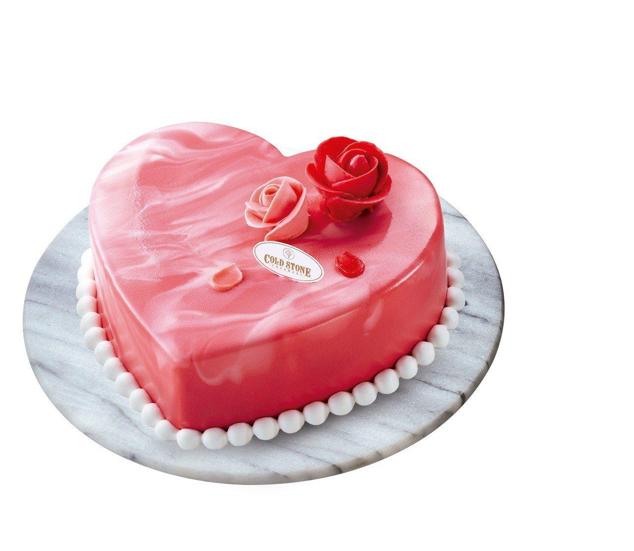 COLD STONE酷聖石玫好心意鏡面蛋糕,售價1,080元,7-ELEVEN獨...